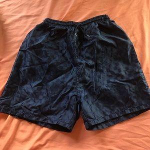 blue checkered soccer shorts